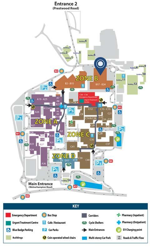New Cross Hospital Map Car Park Services